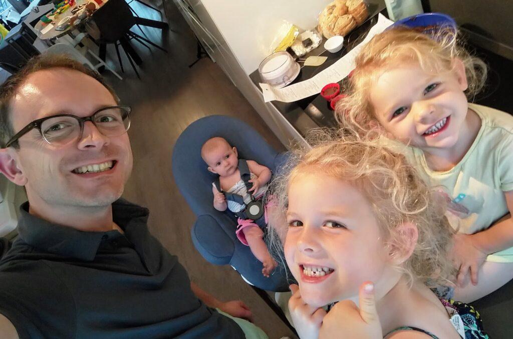 Sander Kruitwagen met zijn gezin